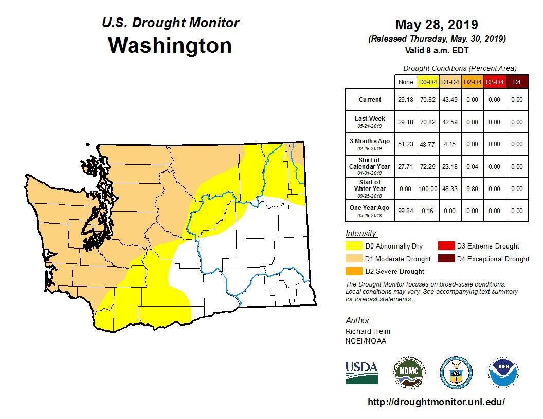 Despite showers, coastal Washington remains abnormally dry | South