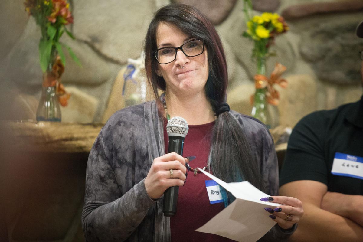 Harbor Association of Volunteers for Animals vice president Dyana Lovato