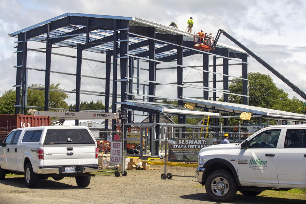 Vessel deconstruction facility frame