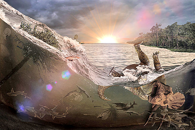 Flood drowns the world