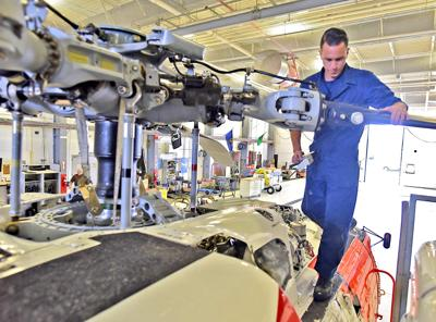 Coast Guard helicopter maintenance