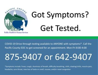 Got symptoms? Get tested.