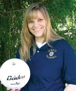 Candy Johnson coaching Lady Fishermen v-ball