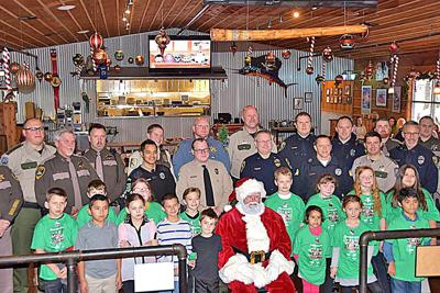 Cops and kids share Christmas cheer