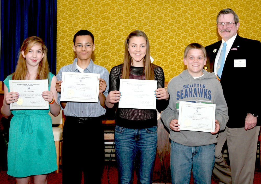 Students honored for citizenship