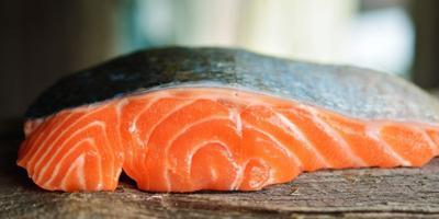Farmed Atlantic salmon