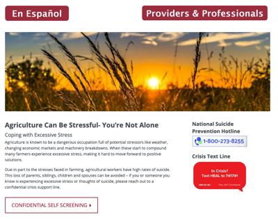 WSU Extension suicide prevention website