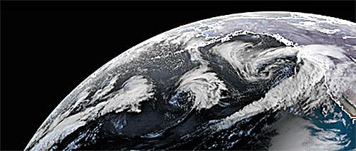 Thursday satellite North Pacific