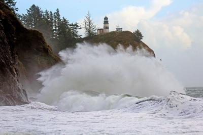 Storms generating big surf