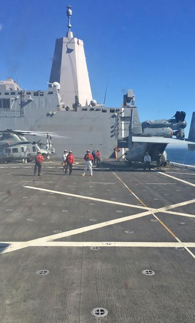 Navy practices disaster-relief on coast