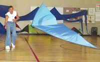 No wind, just right for indoor kite event