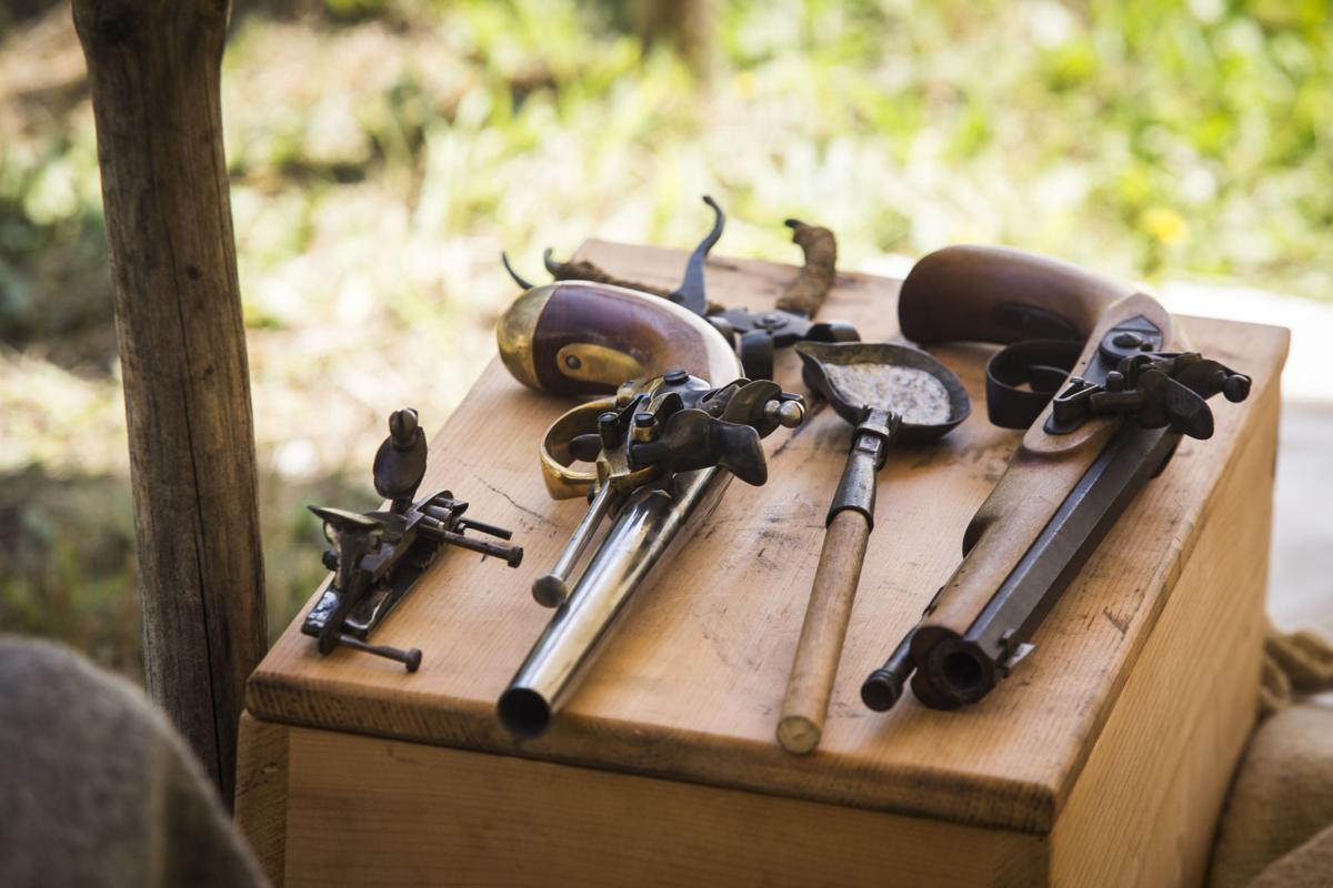 Several tools and firearms of the Lewis and Clark era were on display.