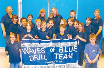 Waves of Blue drill team a hit