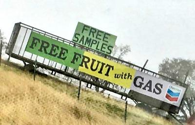 Free fruit with gas