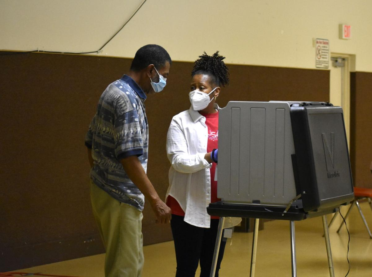 Voting at the Clarence Faulkner Community Center