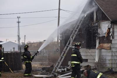 Abandoned home catches fire