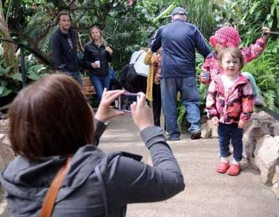 Mother's Day at conservatory