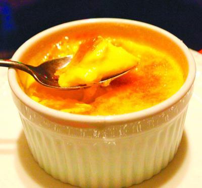 Self-indulge in rich and velvety eggnog crème brûlée.