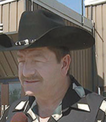 Taw Connors is pictured outside his hometown community centre in Geraldton.