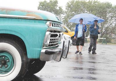 Car enthusiasts at the show