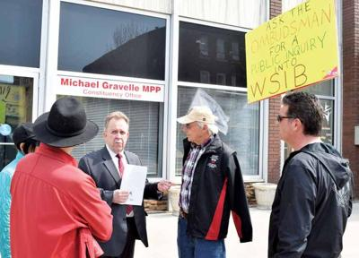 Rally at MPPs office