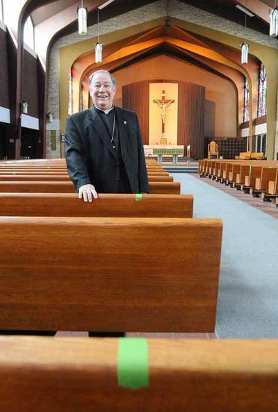 Pews welcome parishioners