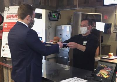 Burger handoff