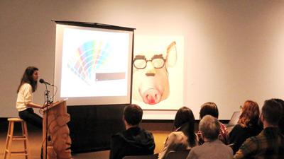 Buset talks Swine exhibit