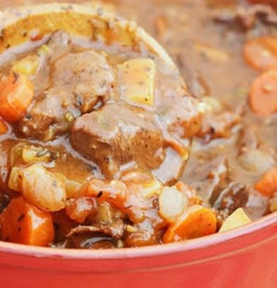 A hearty big bowl of deer stew for those frosty fall days.