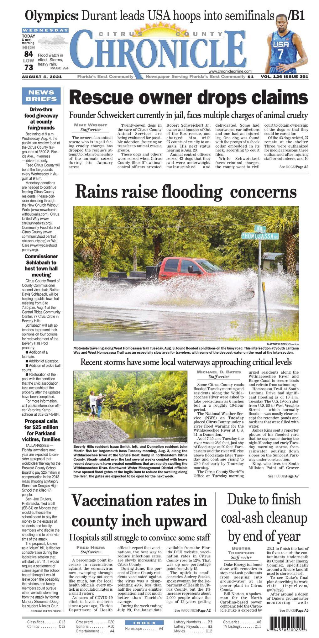Citrus County Chronicle e-edition Aug 4, 2021