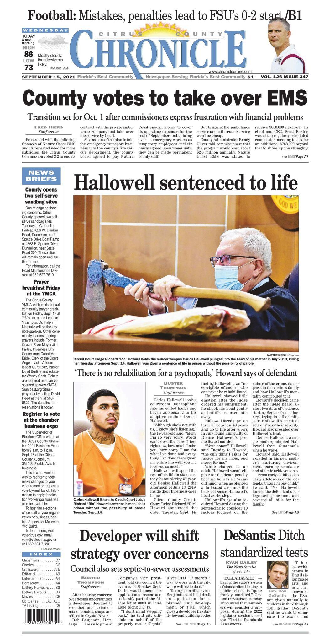 Citrus County Chronicle e-edition Sep 15, 2021