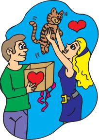 Valentines Day Cat stock