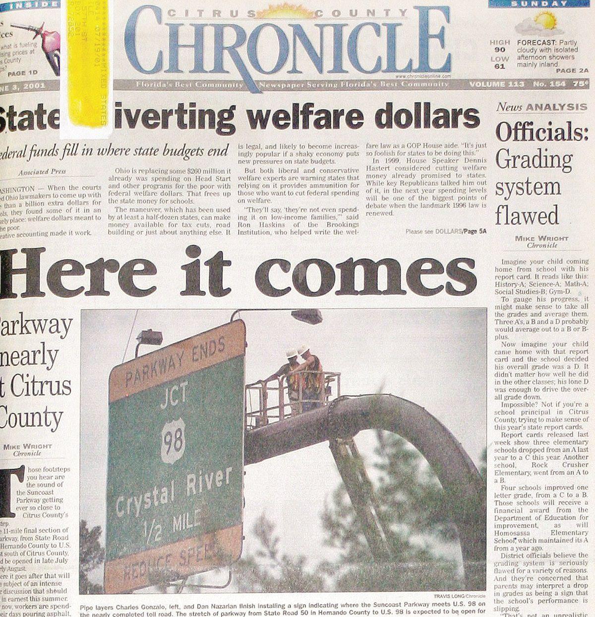 Citrus County Chronicle June 3, 2001