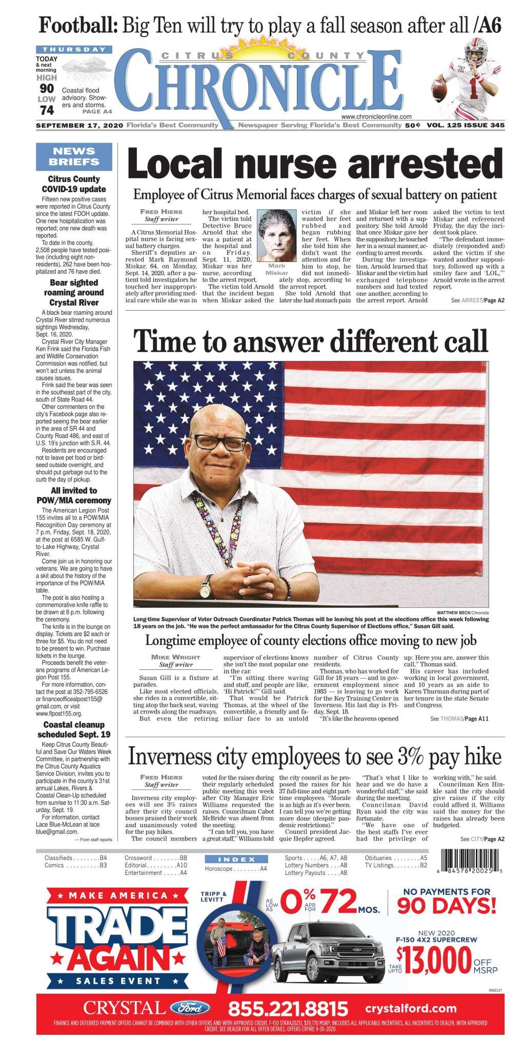 Citrus County Chronicle e edition Sept 17, 2020