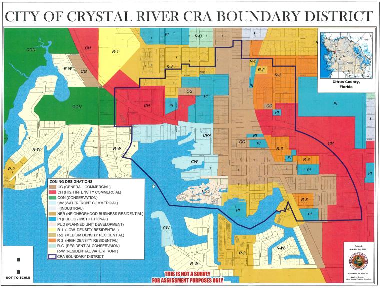 Crystal River CRA Map