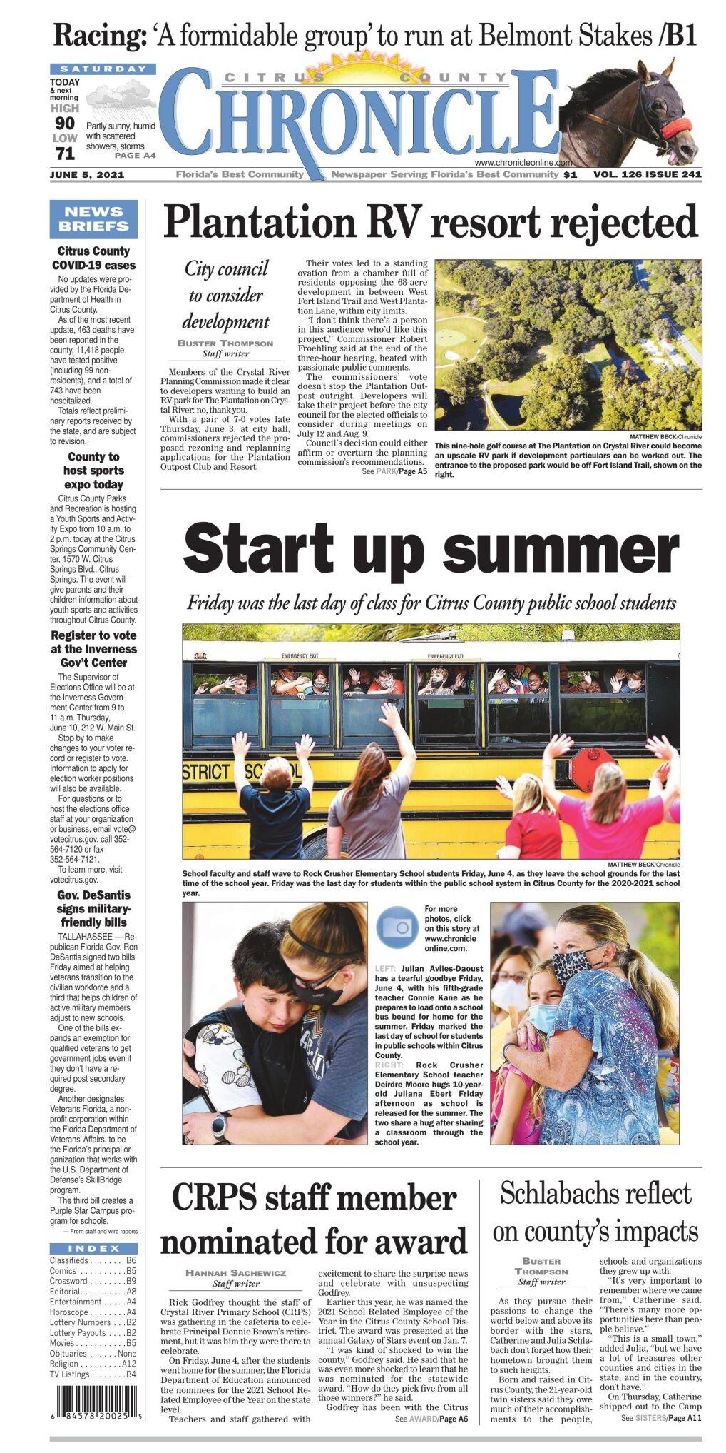 Citrus County Chronicle e-edition June 5, 2021