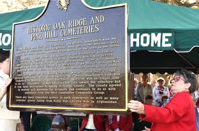 Oak Ridge Pine Hill marker