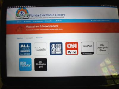 Library media search page