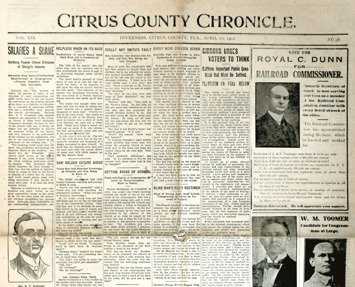 Citrus County Chronicle April 19, 1912