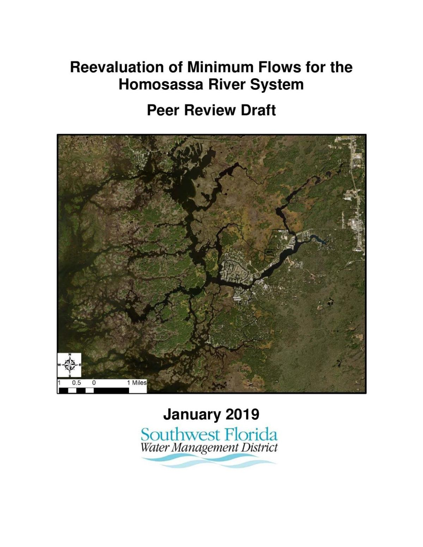 Homosassa River MFL Peer Review Jan. 17, 2019
