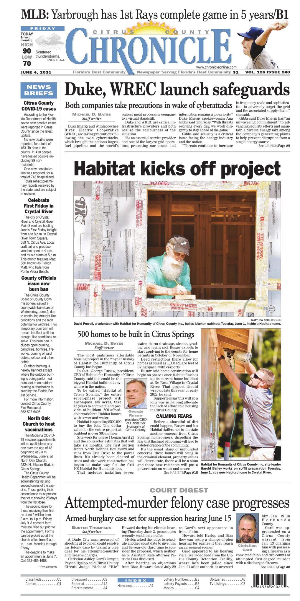 Citrus County Chronicle e-edition June 4, 2021