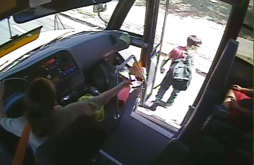 School Bus Driver Video Footage Still