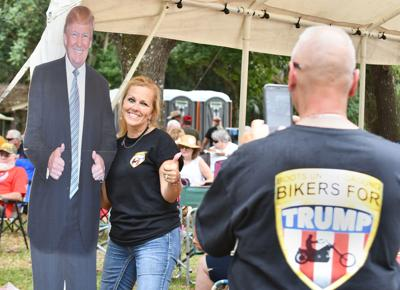 Big crowd turns out to Trump rally in Istachatta