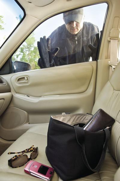 Car burglary stock art