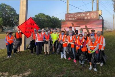 Good Shepherd Lutheran cleans highway