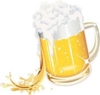 Beer mug stock art
