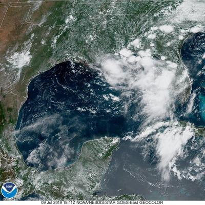 Tropical system in Gulf, July 9