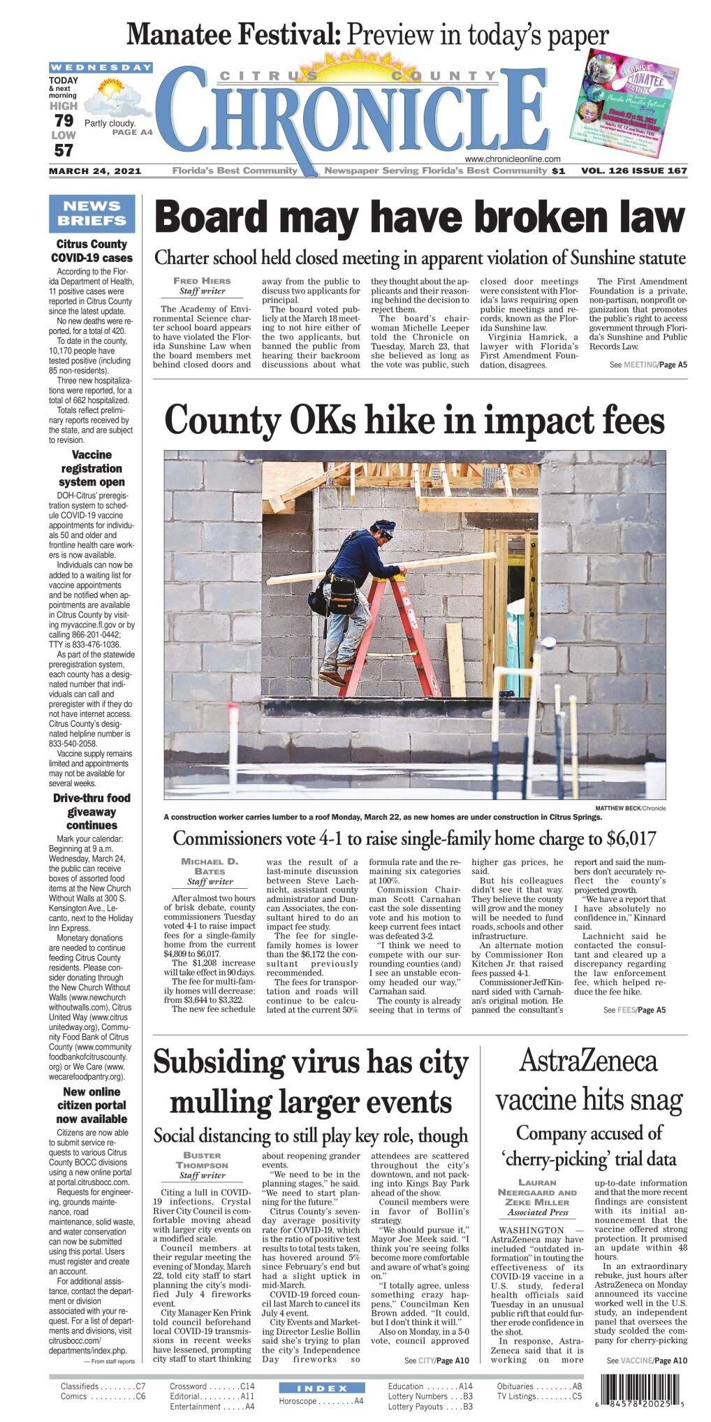 Citrus County Chronicle e edition Mar 24, 2021