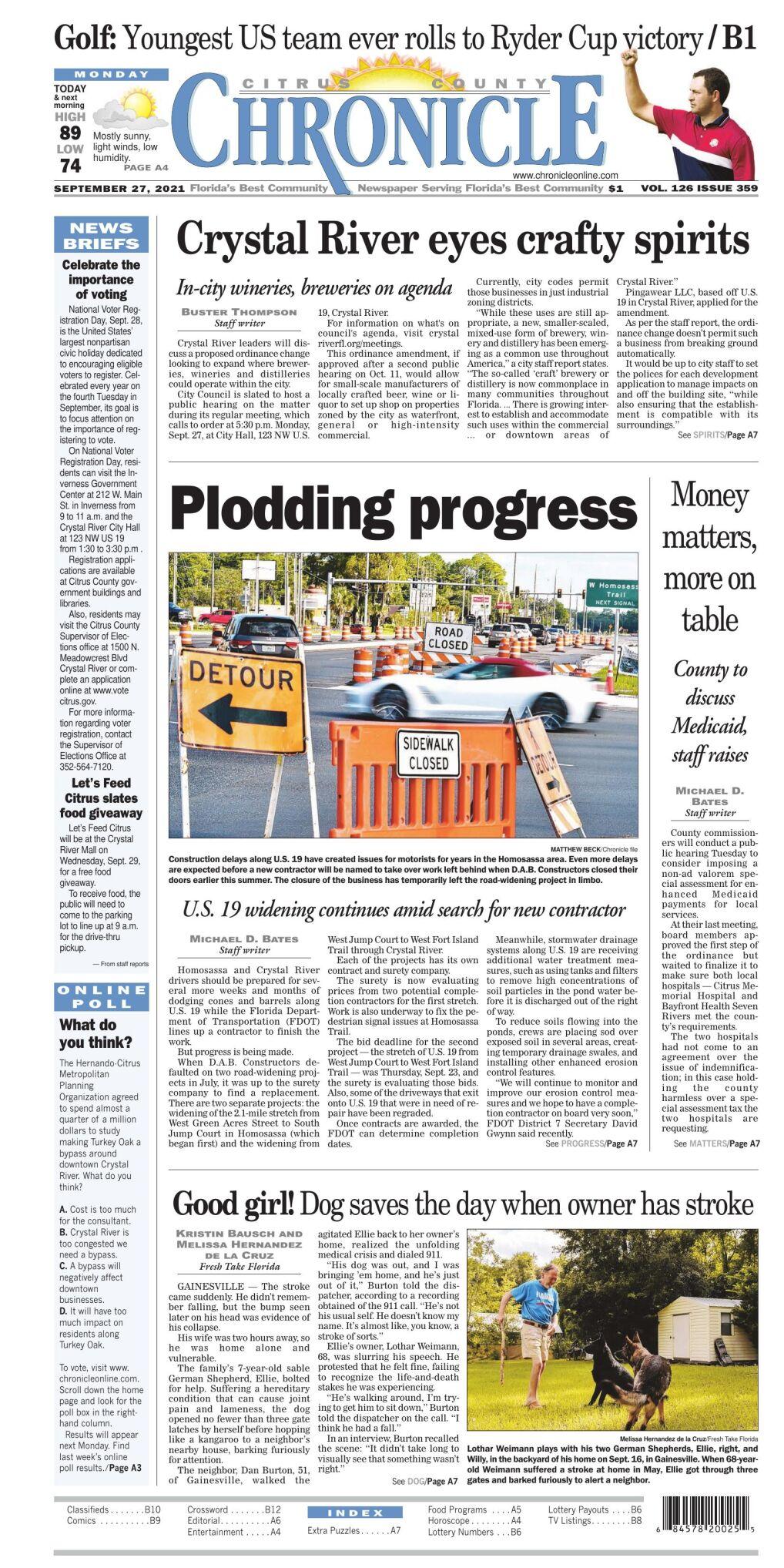 Citrus County Chronicle e-edition Sep 27, 2021