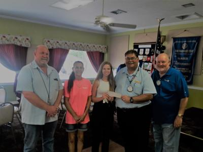 Rotary donation to student